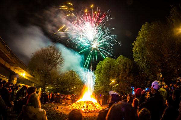 Bonfire a Londres